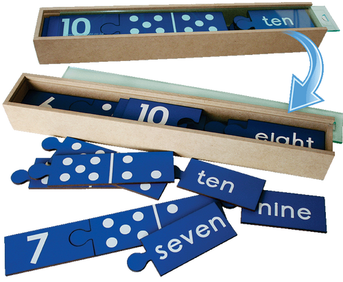 Wooden Domino Counting Puzzle Combo - Numbers 1 to 10