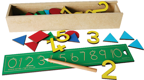 Number Set -  Numbers and counters box 0 - 10