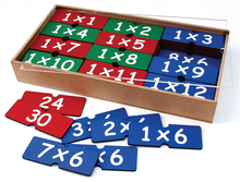 Number Set - Multiplication flash cards in a box - 144 pieces