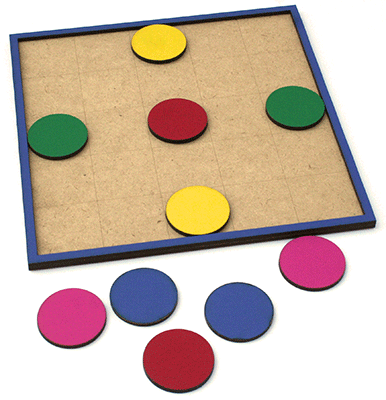 Wooden Counter board with 10 counters