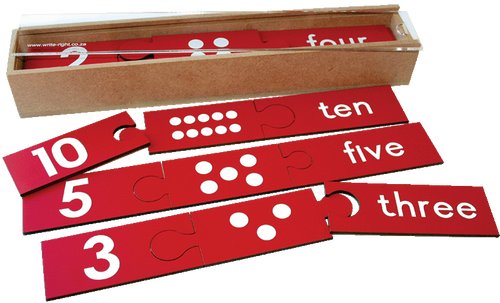 Wooden Counting Puzzle Combo - 1 to 10 with dots and words
