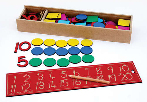 Number Set -  Numbers and counters box 1 - 20