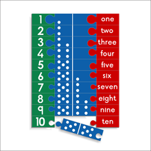 Counting Puzzle Domino Combo - Numbers 1 to 10
