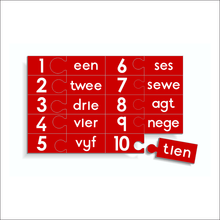 Counting Puzzle - Numbers 1 to 10 with words