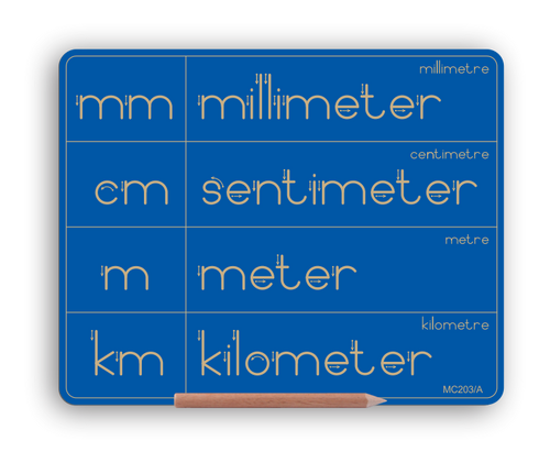 NEW PRODUCT - Metric System Symbols mm cm m km - Alt Print