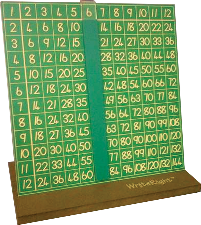 Number Set- Multiplication - WriteRight stand, Board 1 - 144 & Slider