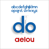 Letter Set - 120mm Alphabet letters - Lowercase letters & vowels