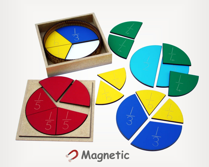 Wooden Fractions starter set