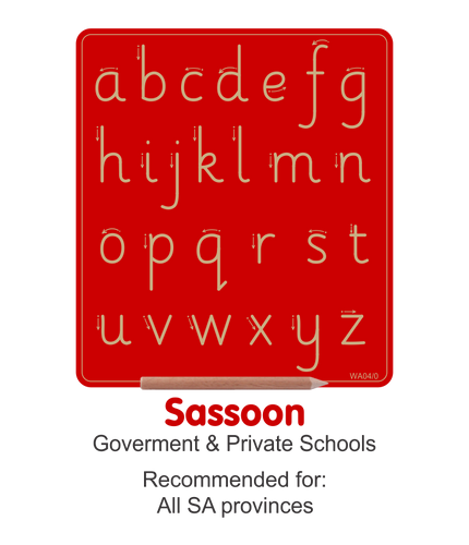 Wooden Alphabet Boards - Lowercase Sassoon