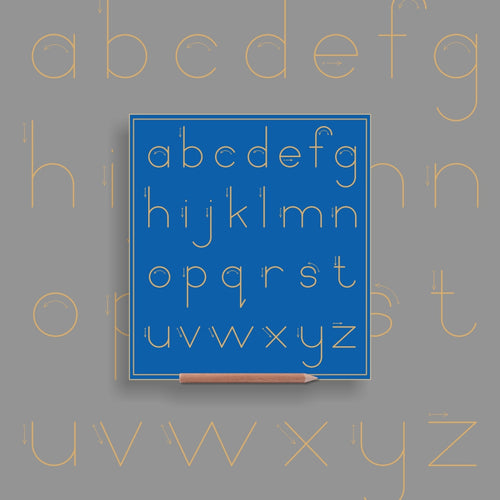 Alphabet lower case (no lines) - Standard Print
