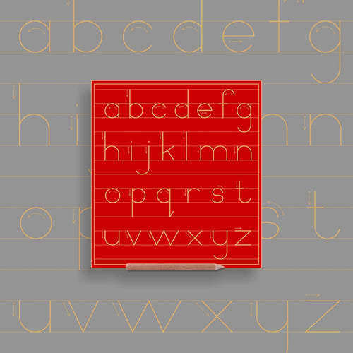 Alphabet lower case in lines - Standard Print