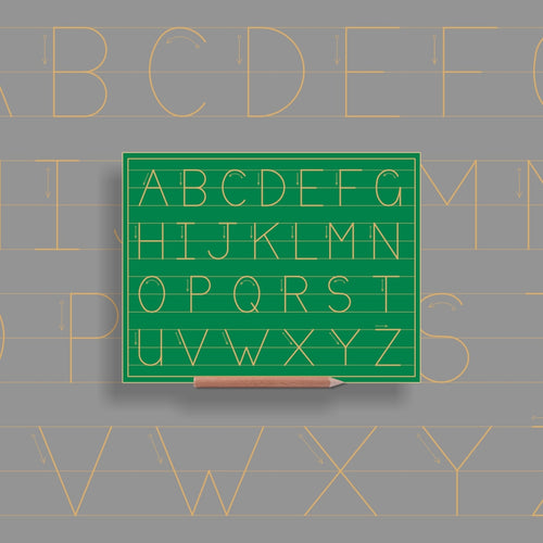 Alphabet upper case in lines - Standard Print