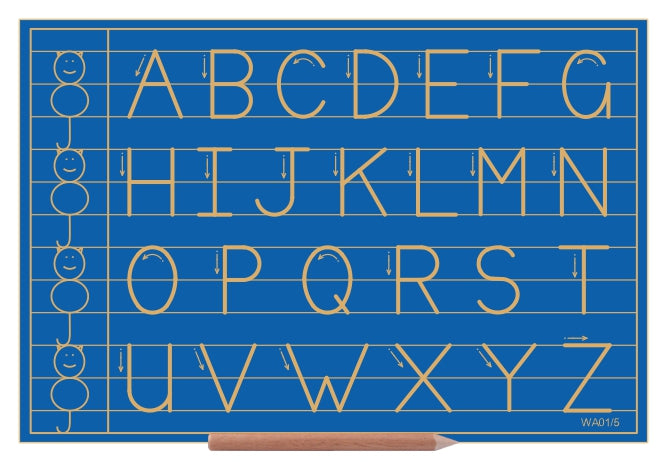 Alphabet upper case in lines with CAT - Standard Print