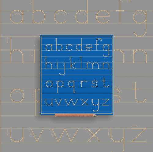 Alphabet Lower case in lines - Alternative Print