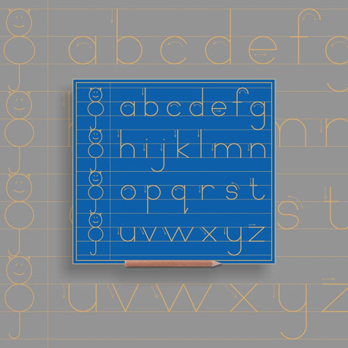 Alphabet Lower case in lines with CAT - Alternative Print
