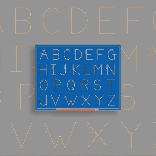 Alphabet Upper case (no lines) - Alternative Print