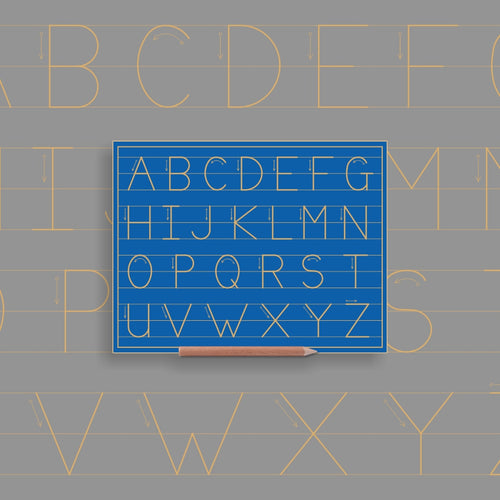 Alphabet upper case in lines - Alternative Print