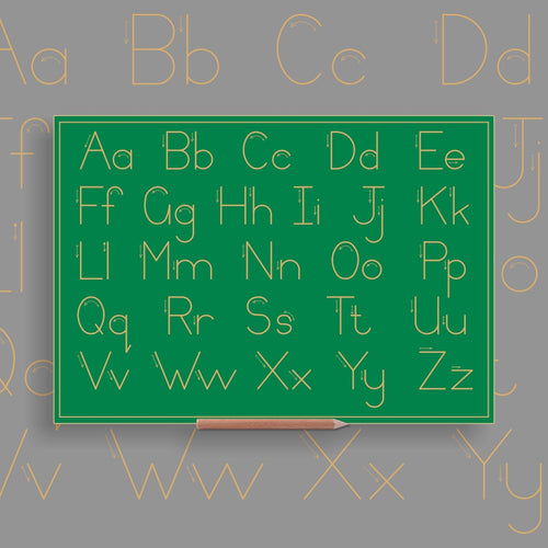 Alphabet Upper - & Lower case Combination (no lines) - Standard Print