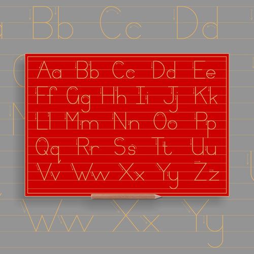 Alphabet Upper - & Lower case Combination in lines - Standard Print
