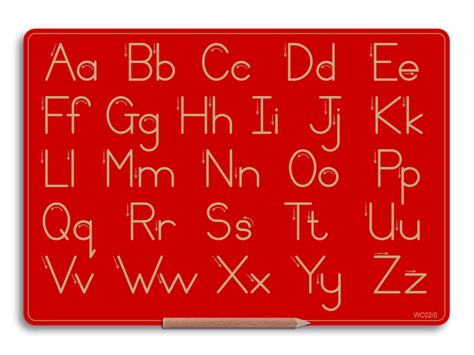 Alternative Print Alphabet Boards - Capital and lower case letters