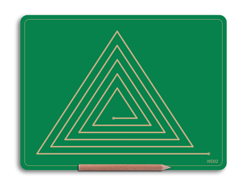 Wooden Triangle Doodle Board for Midline crossing