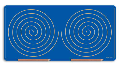 Wooden Double Spiral Doodle Board for Bilateral integration