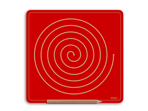 Single Doodle Board - Spiral