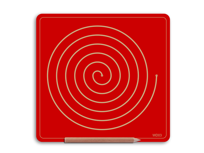 Wooden Single Spiral Doodle board