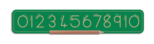 Alternative Number Board - Number 0 to 10