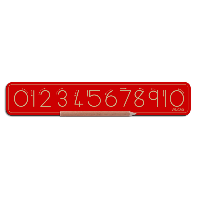 Wooden Number Board 0 to 10