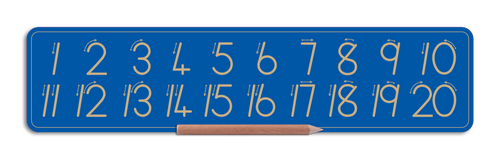 Standard Number board - Numbers 1 to 20