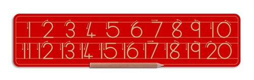Alternative Number board - Numbers 1 to 20