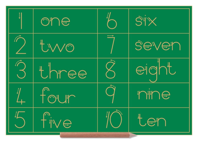Number & Word Combo 1 to 10 - English - Standard Print