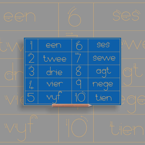 Number & Word Combo 1 to 10 - Afrikaans - Alternative Print
