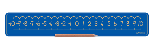 Standard Number Board - Numbers -10 to 0 and 0 to 10