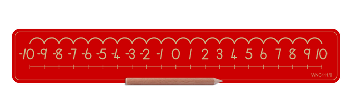 Wooden Number Board  -10 to 0 and 0 to 10 - Std Print