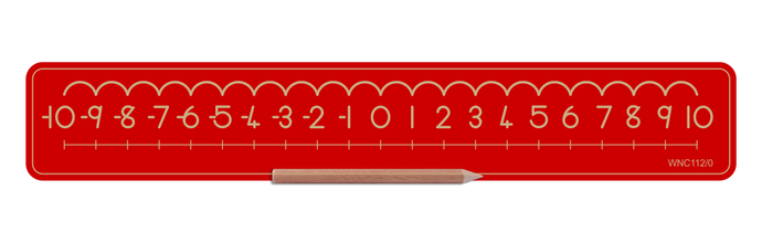 Alternative Number Board - Numbers -10 to 0 and 0 to 10