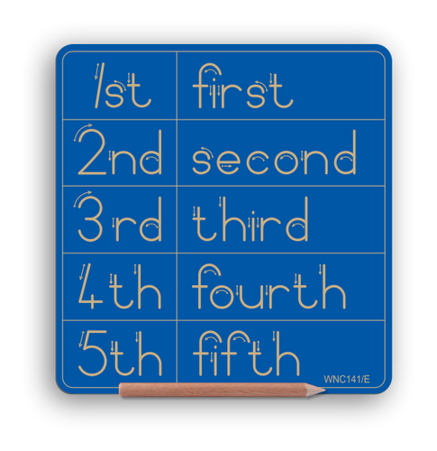 NEW PRODUCT - Number 1st to 5th & word - Std Print