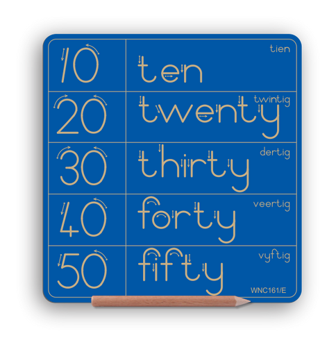 NEW PRODUCT - Numbers in tens (10 to 50) & word - All Provinces