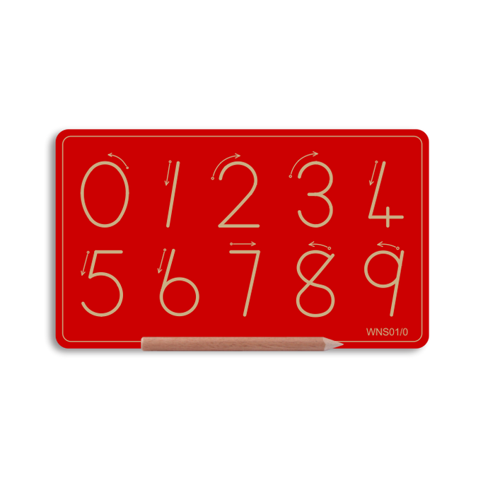 Wooden Small Number Board 0 to 9