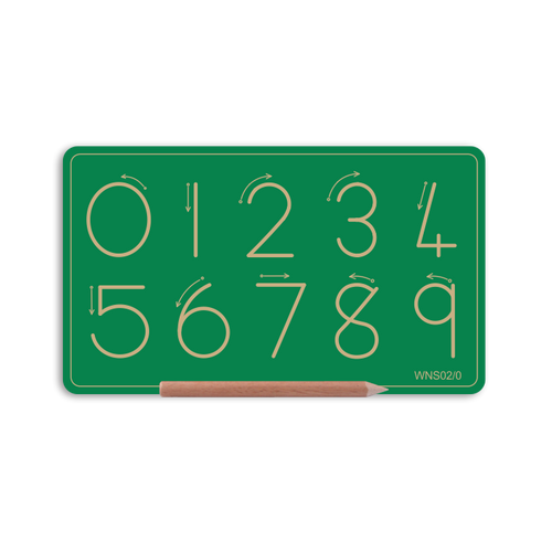 Alternative Small Number Board - Number 0 to 9
