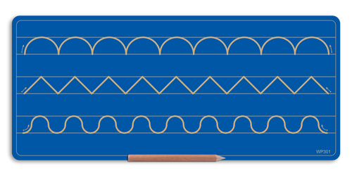 Wooden 3 Pattern Board