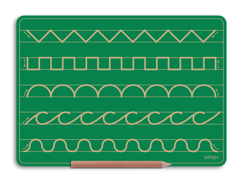 Wooden 5 Pattern Board