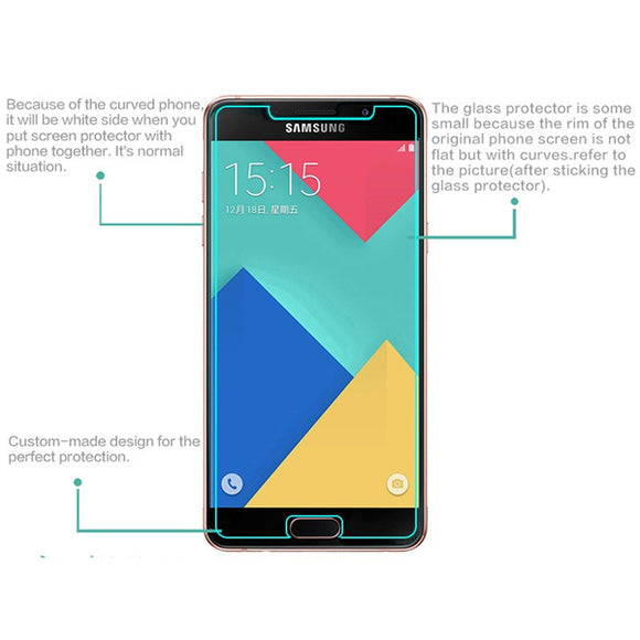 Samsung Galaxy A7 2017 2.5D Clear Flat Tempered glass screen protector