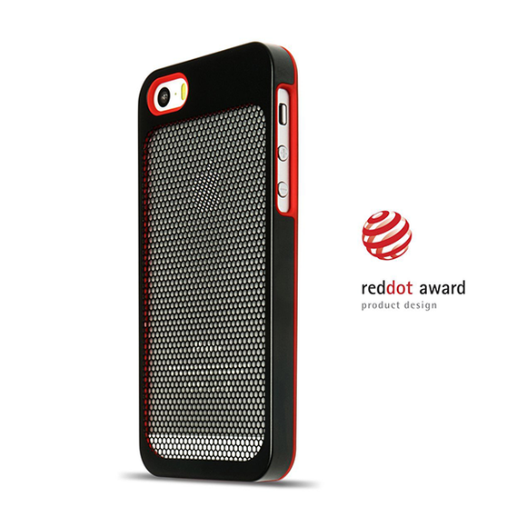 Sevenmilli Ultraslim Honeycomb iPhone 5 Black and Red