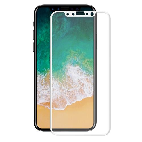 iPhone X 3D Curved Tempered Glass Screen Protector, 0.33mm 9H Full Cover Premium Tempered Glass Screen Protector