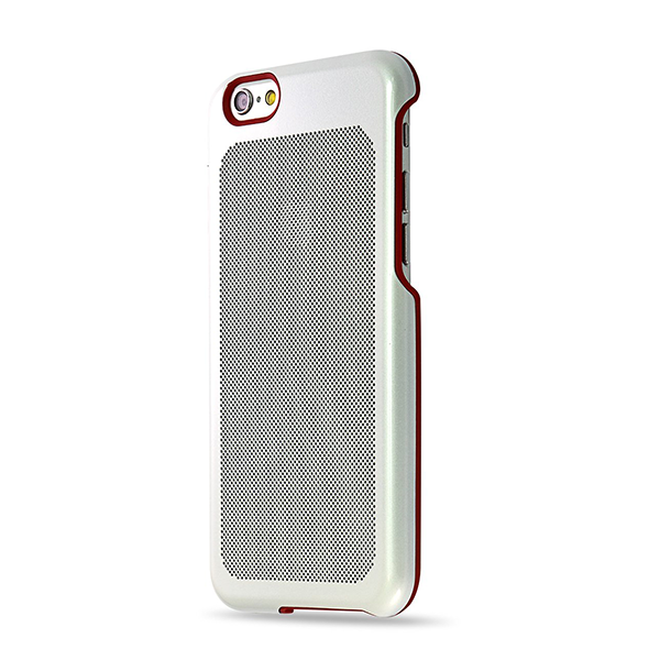 Sevenmilli Honeycomb iPhone 6 Silver and Red