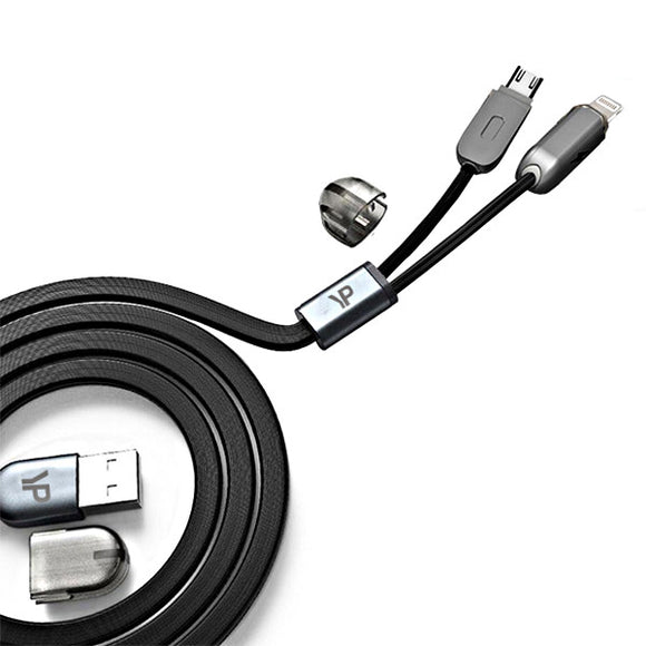 Young Pioneer 2 in 1 Lightning & Micro USB Android Cable