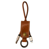 YP Lightning USB Charging & Data Cable Genuine Leather Travel Keyring
