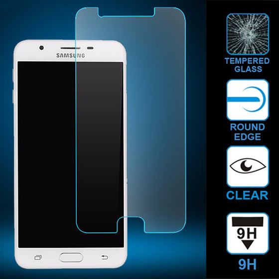 Samsung Galaxy J7 Prime Clear 2.5D Flat Tempered Glass Screen Protector